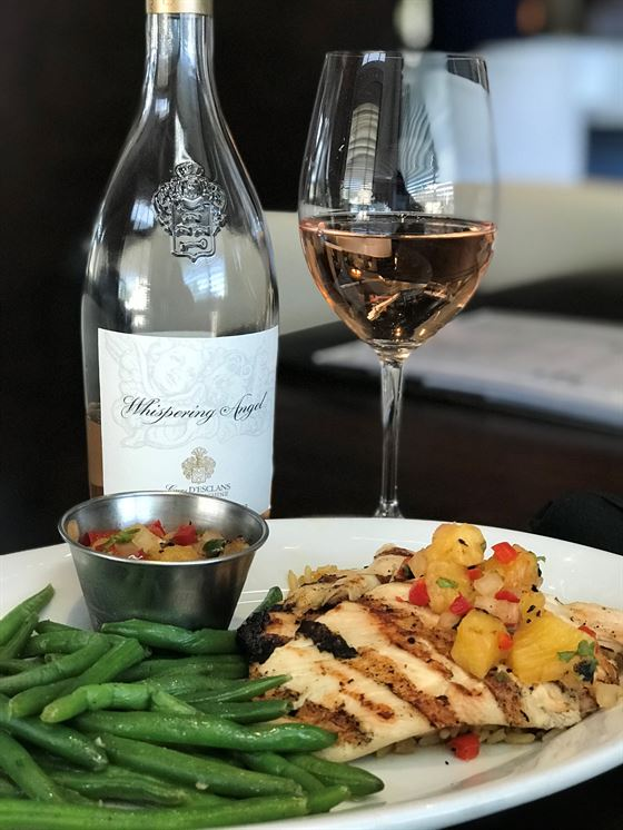 Whispering Angel Rosé With Grilled Chicken and Vegetables